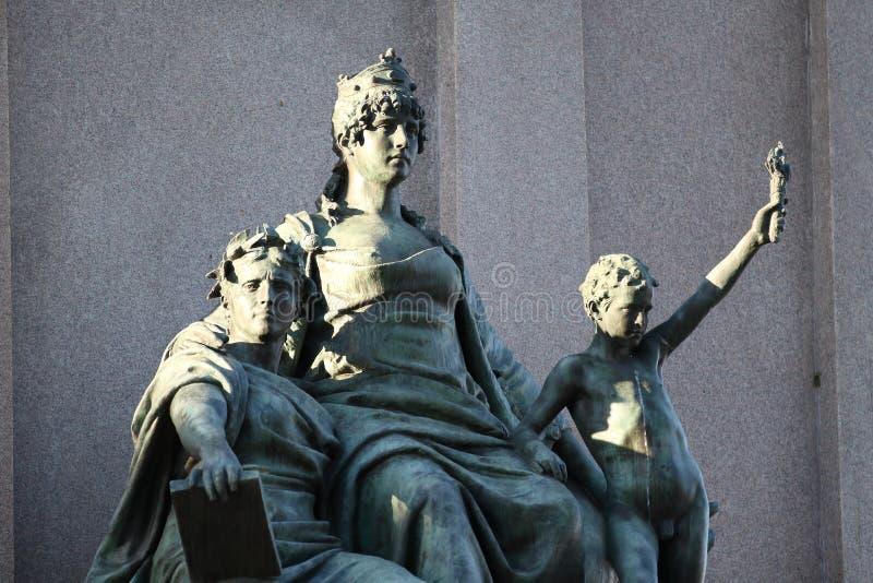 Equestrian zabytek dedykujący Giuseppe Garibaldi w Rzym, Europa ` s - statuy szczegół fotografia royalty free