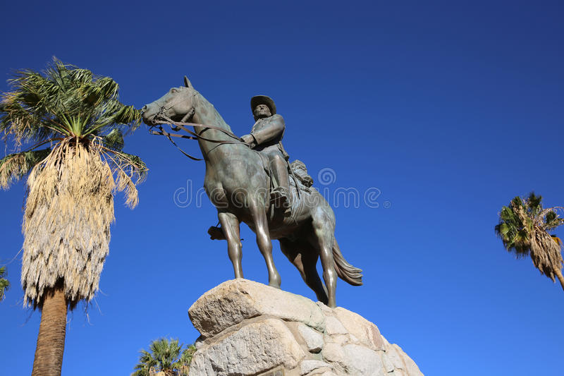 Equestrian zabytek - Niemiecki jeździec obraz stock