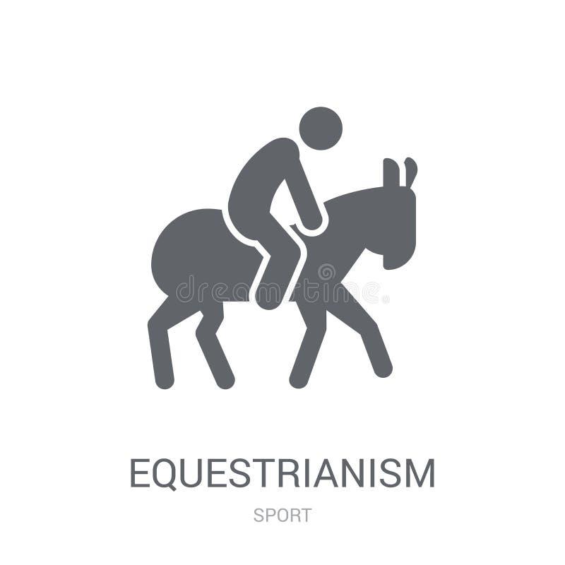 equestrianismpictogram  stock illustratie