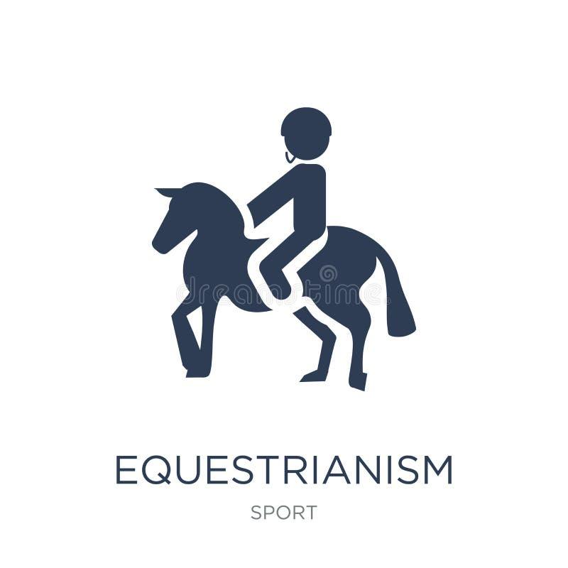 equestrianismpictogram In vlak vectorequestrianismpictogram op whi royalty-vrije illustratie