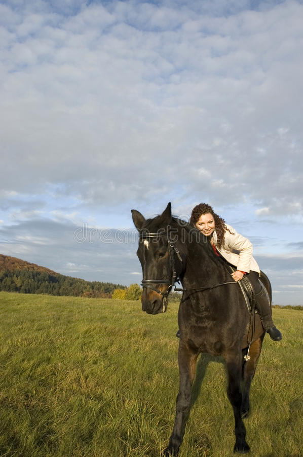 Equestrienne and horse.