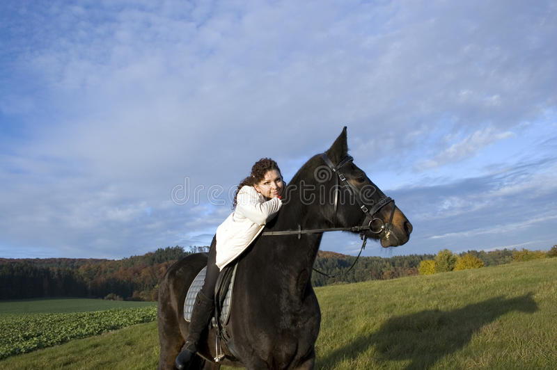 Download Equestrienne and horse. stock image. Image of purebred - 11726577
