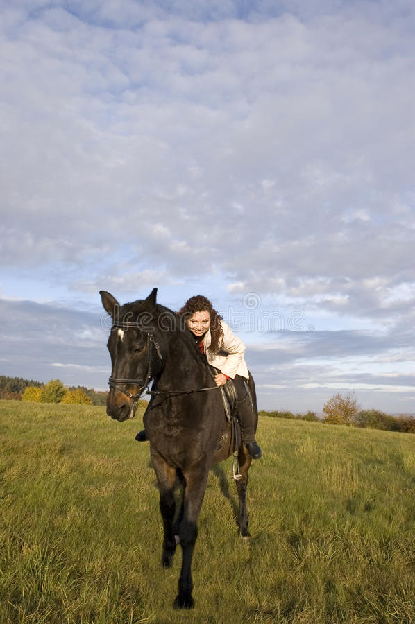 Download Equestrienne And Horse. Royalty Free Stock Photography - Image: 11726597