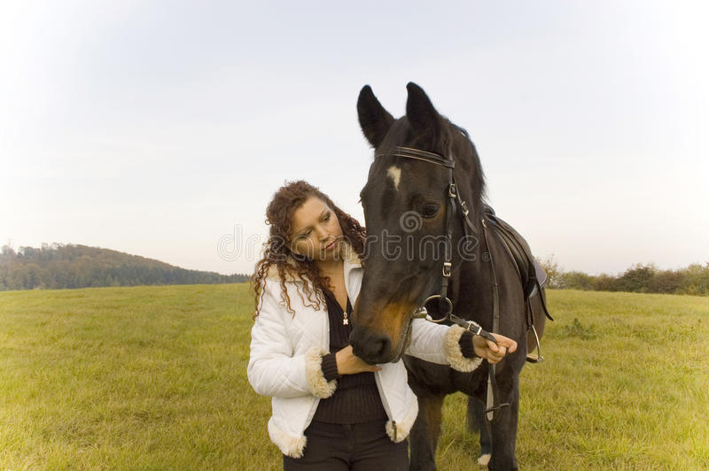 Download Equestrienne And Horse. Royalty Free Stock Photography - Image: 12254957