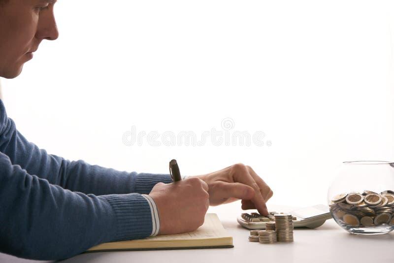 Equilíbrio calculador do contador ou do banqueiro fotos de stock