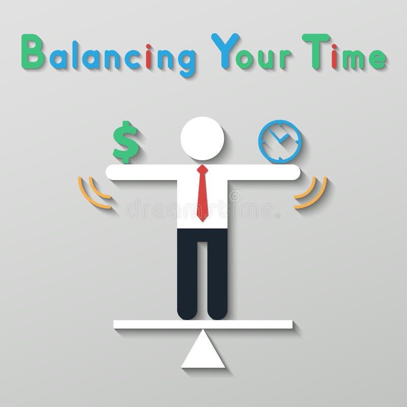 Equilíbrio da ideia seu conceito do negócio de vida ilustração do vetor
