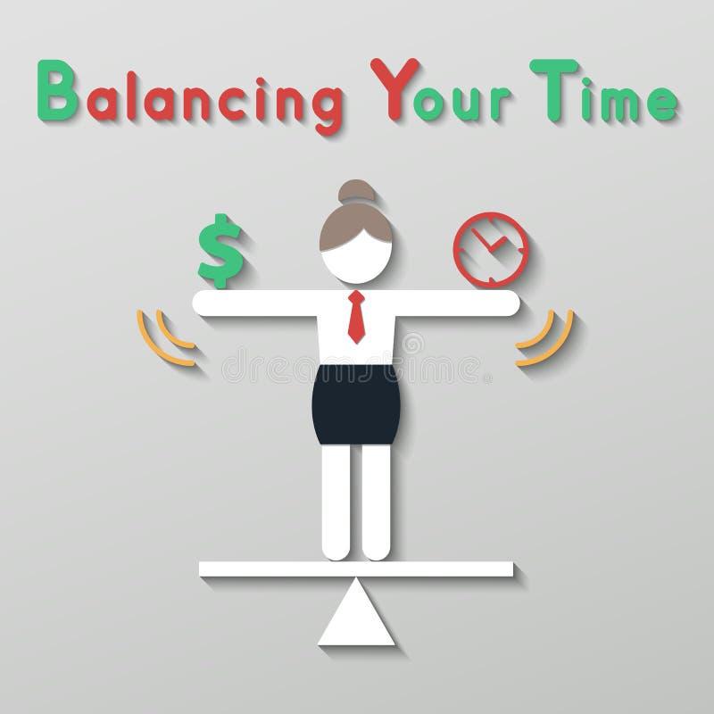 Equilíbrio da ideia seu conceito do negócio de vida ilustração royalty free