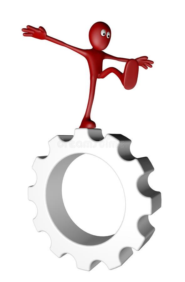 Equilíbrio da indústria ilustração do vetor