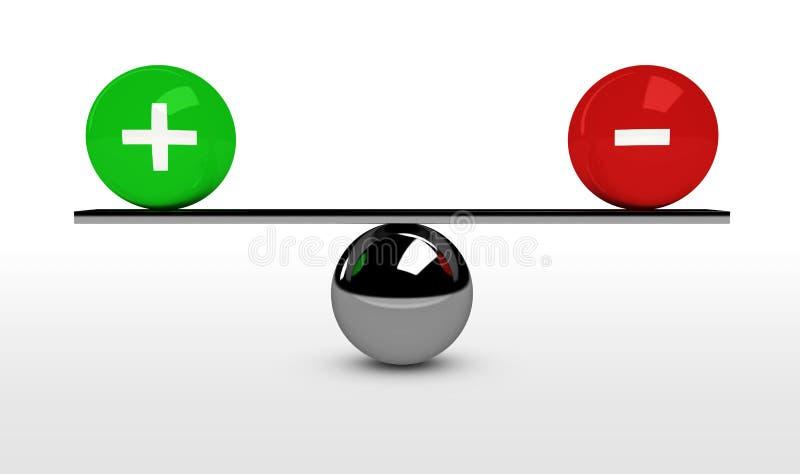 Equilíbrio do custo do benefício do negócio ilustração do vetor