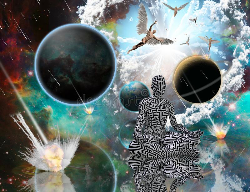 Equilíbrio do universo da vida ilustração do vetor