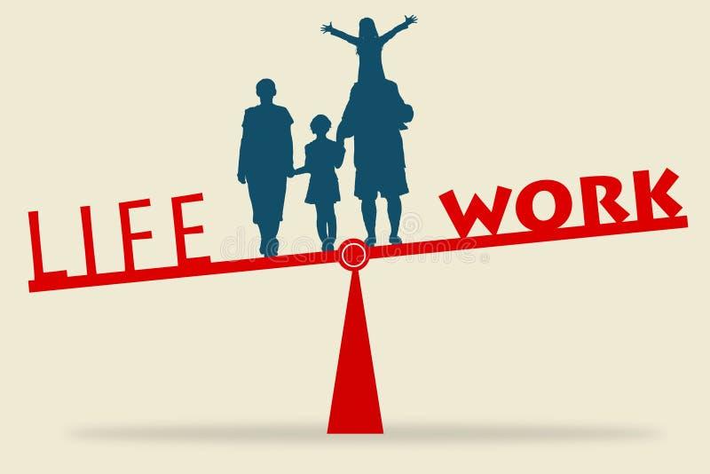 Equilíbrio dos trabalhos duma vida ilustração do vetor
