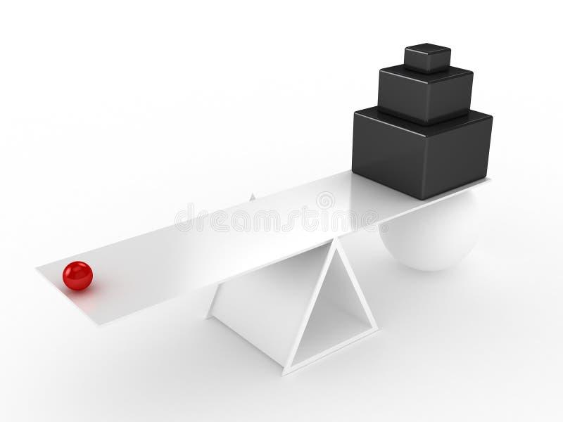 Equilíbrio equipado ilustração stock