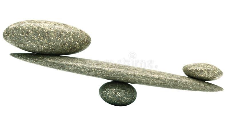 Equilíbrio: Escalas da estabilidade do seixo com pedras fotografia de stock royalty free