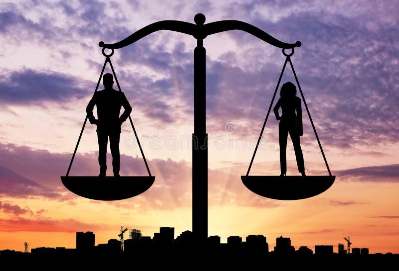Equilíbrio social entre mulheres e homens foto de stock royalty free