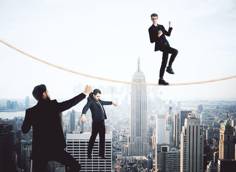 Equilíbrio, supervisão e conceito puppetting imagem de stock royalty free