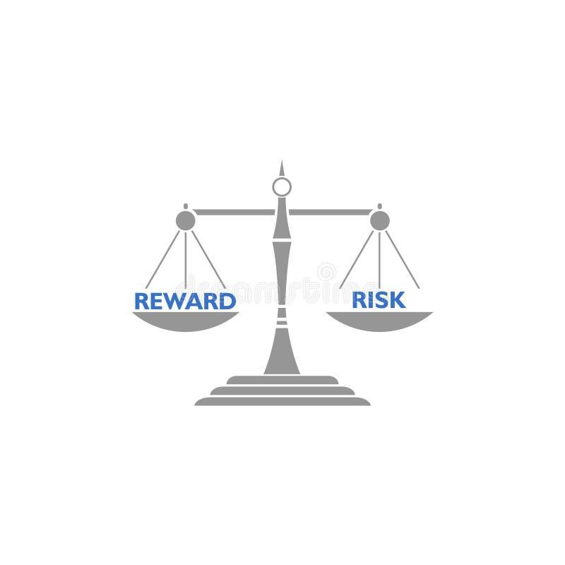 Equil?brio da balanc? entre a recompensa e o risco, conceito do libra ilustração do vetor