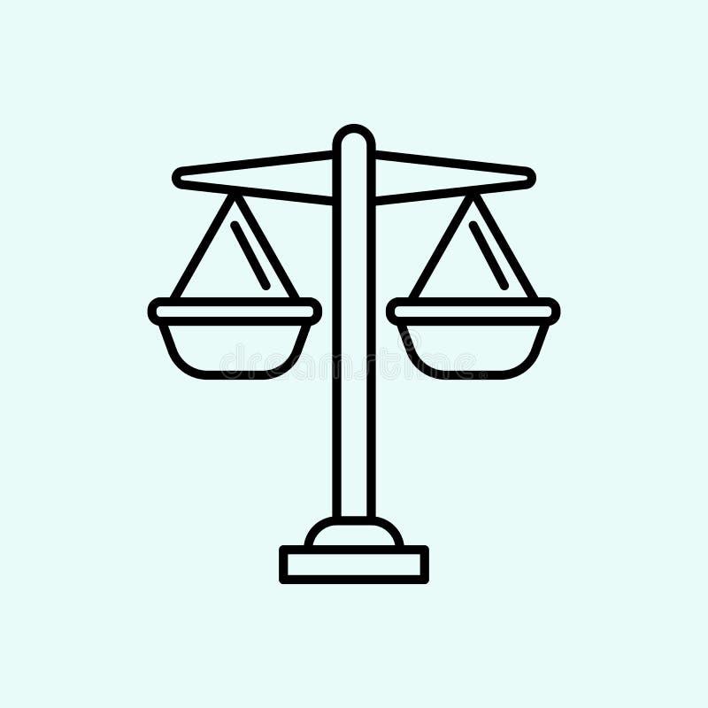 equil?brio, leis, ?cone de justi?a Elemento do feminismo para o conceito e o ?cone m?veis dos apps da Web Esbo?o, linha fina ?con ilustração do vetor