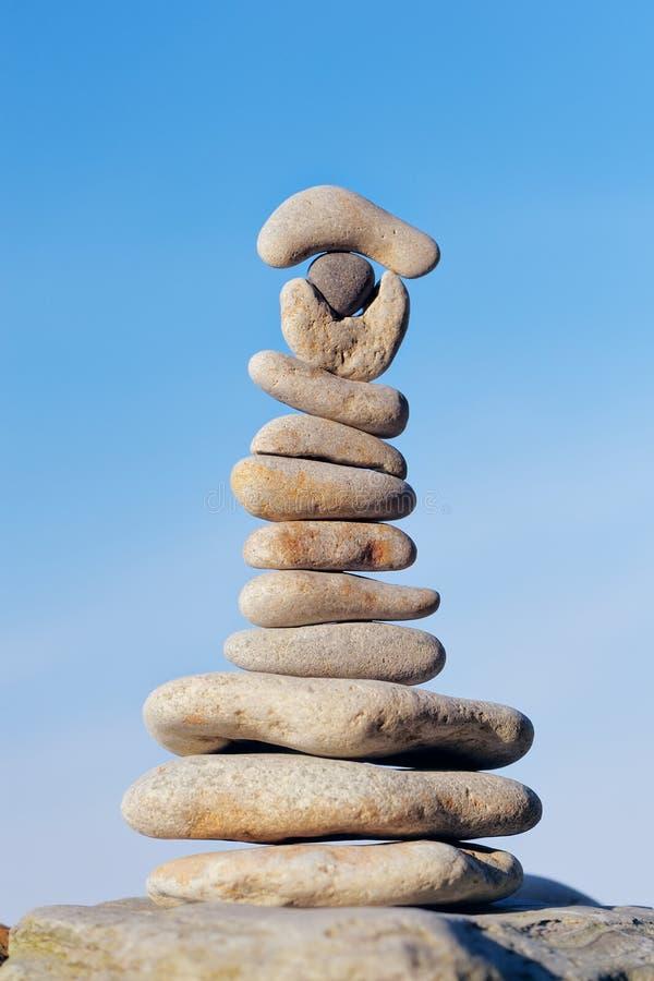 Equilibramento delle pietre fotografia stock libera da diritti