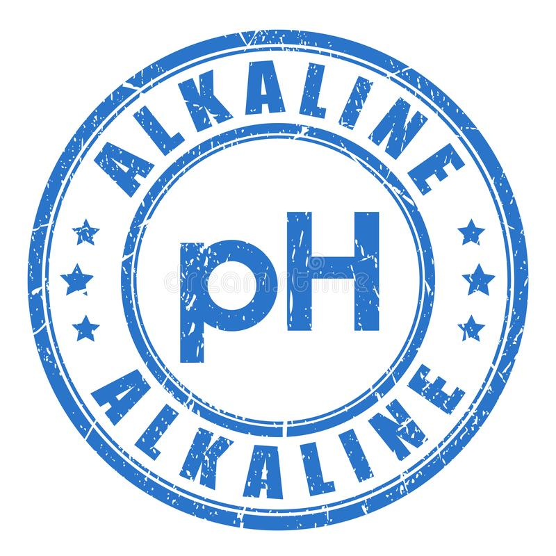 Equilibrio alcalino del pH libre illustration