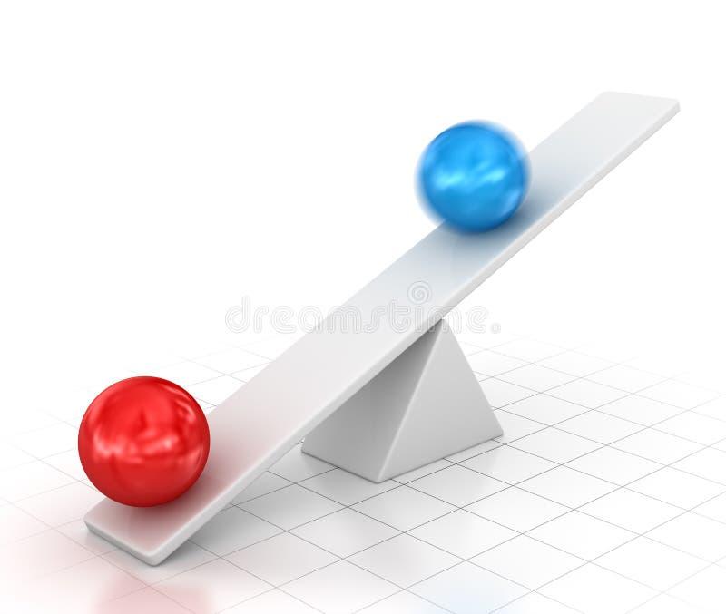 Equilibrio con la palla illustrazione di stock