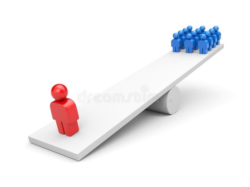 Equilibrio. Concetto di direzione. Metafora di affari illustrazione vettoriale