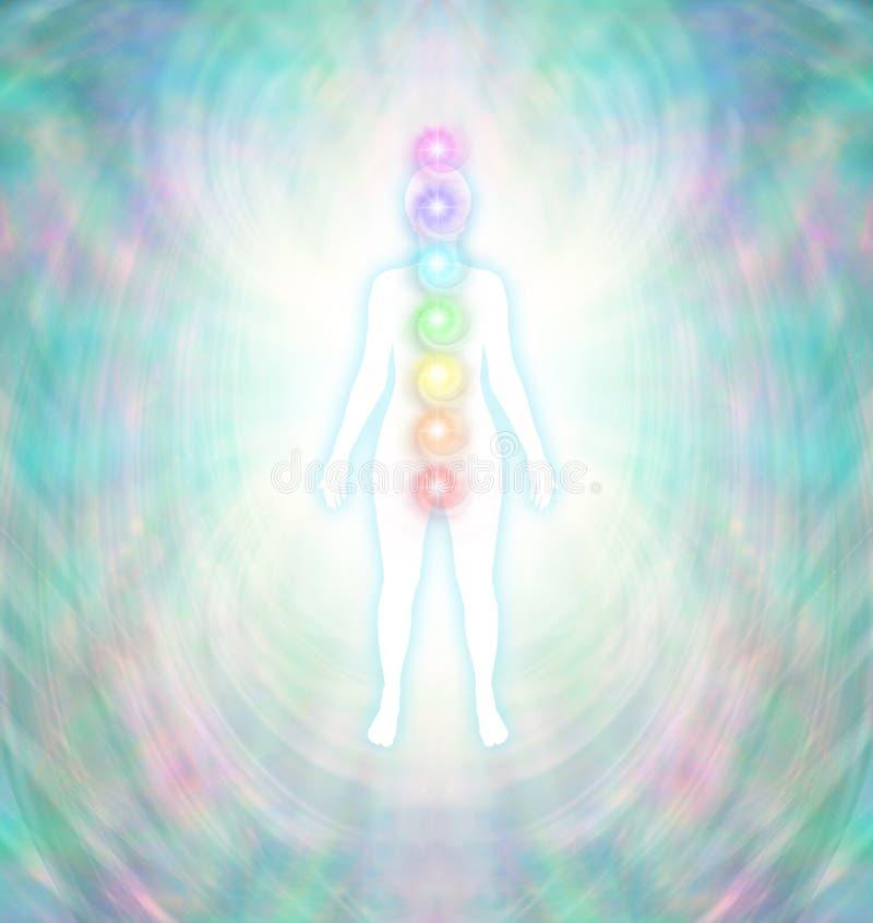 Equilibrio de la energía de Chakra stock de ilustración
