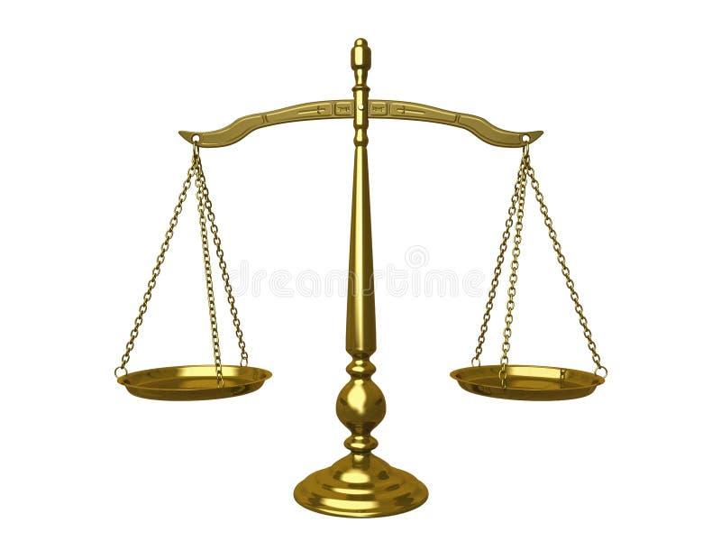 Equilibrio de oro stock de ilustración