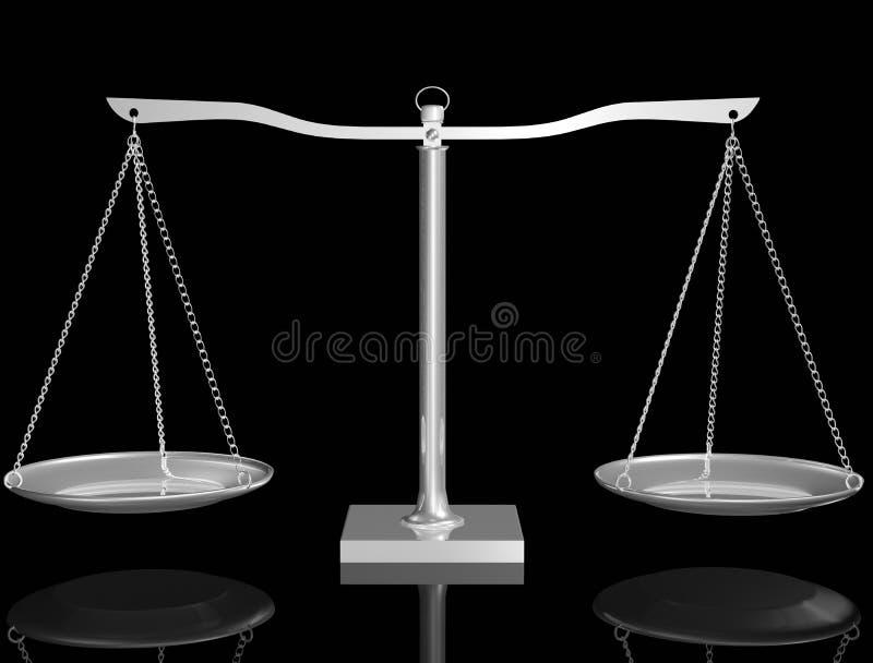 Equilibrio de plata stock de ilustración