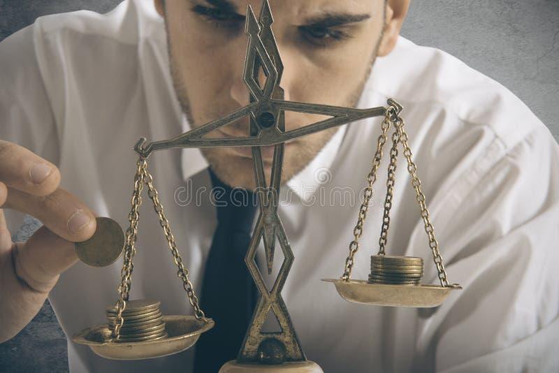 Equilibrio dei guadagni fotografie stock libere da diritti