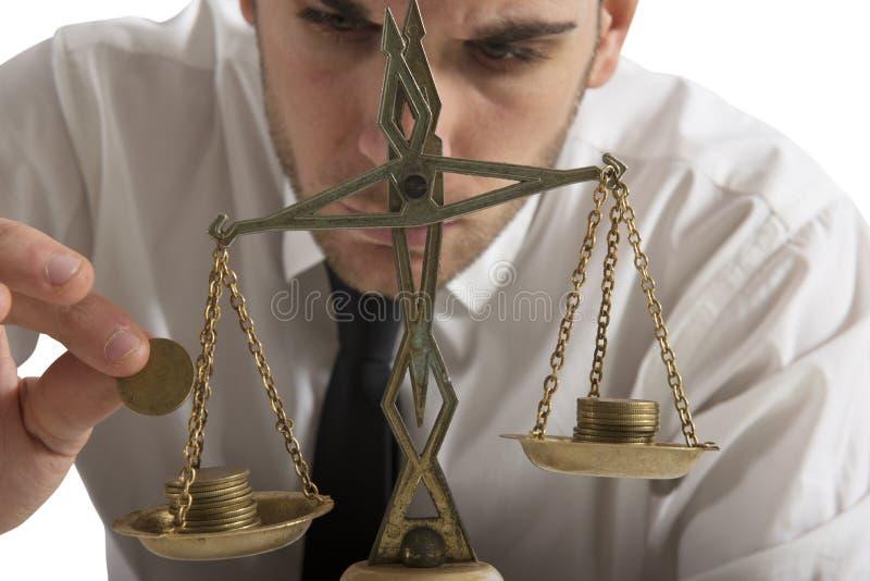 Equilibrio dei guadagni fotografia stock