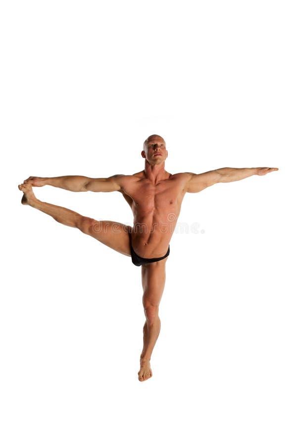 Equilibrio del Bodybuilder fotografía de archivo