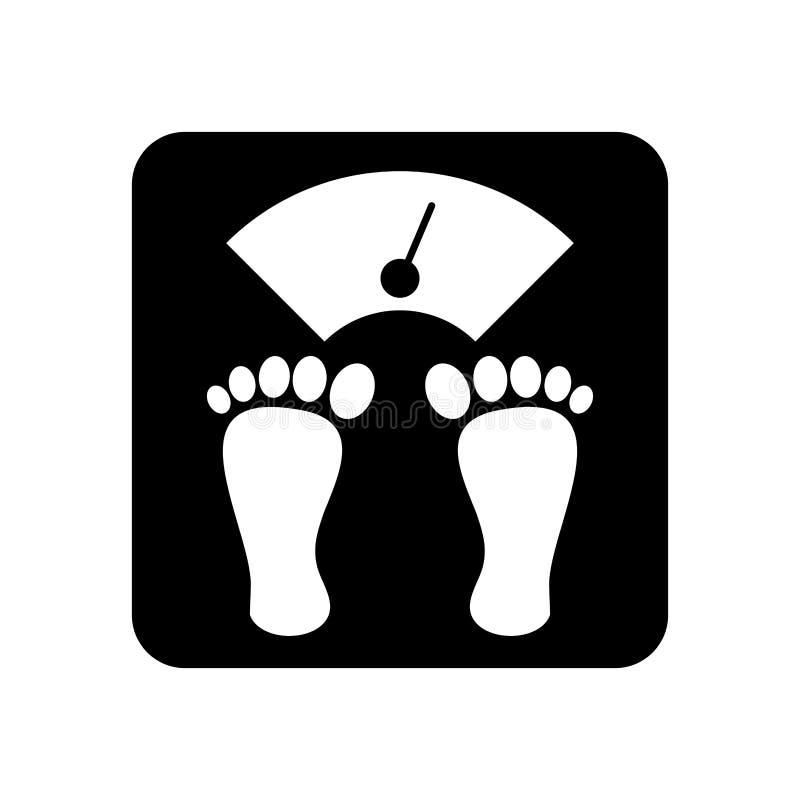 Equilibrio del corpo del peso illustrazione vettoriale