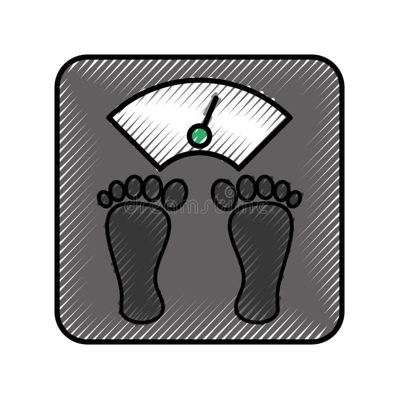 Equilibrio del corpo del peso illustrazione di stock