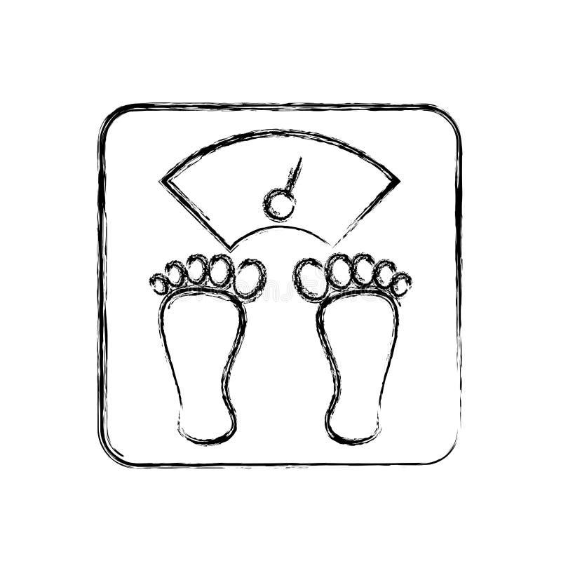 Equilibrio del corpo del peso royalty illustrazione gratis