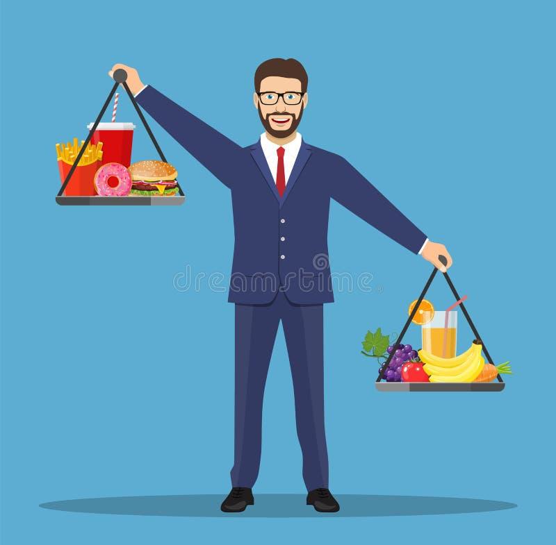 Equilibrio del hombre de negocios ilustración del vector