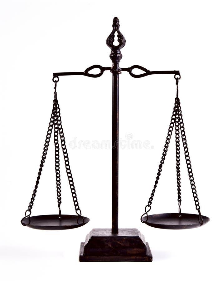 Equilibrio della giustizia fotografia stock libera da diritti