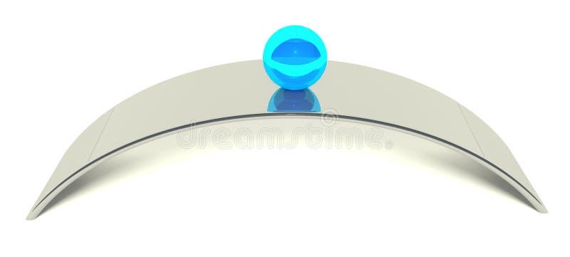 equilibrio della sfera 3d, concetto di equilibrio illustrazione di stock
