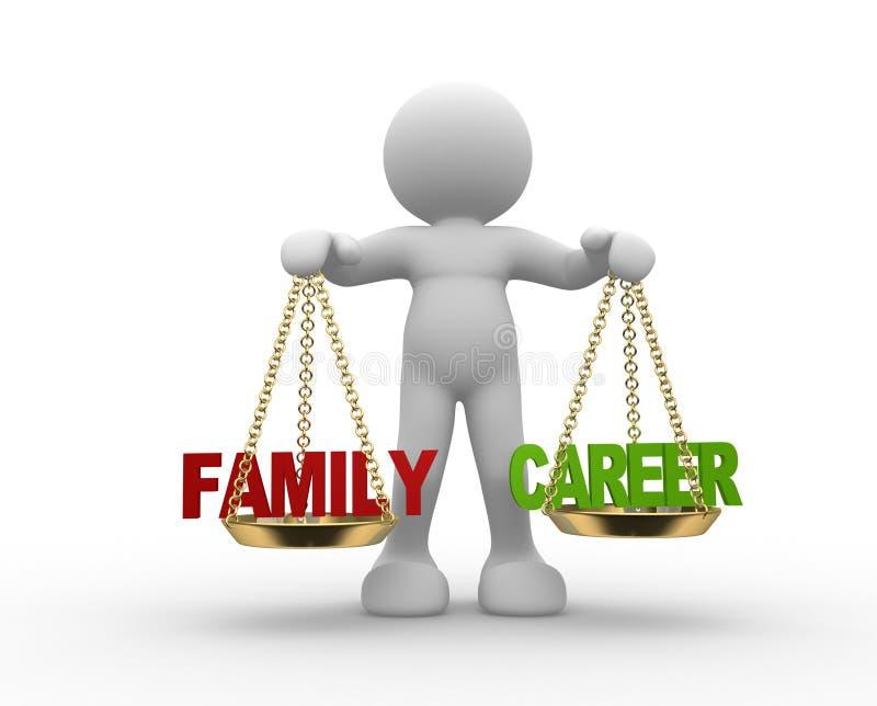 Equilibrio di carriera e della famiglia illustrazione di stock