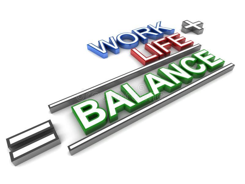 Equilibrio di vita del lavoro royalty illustrazione gratis