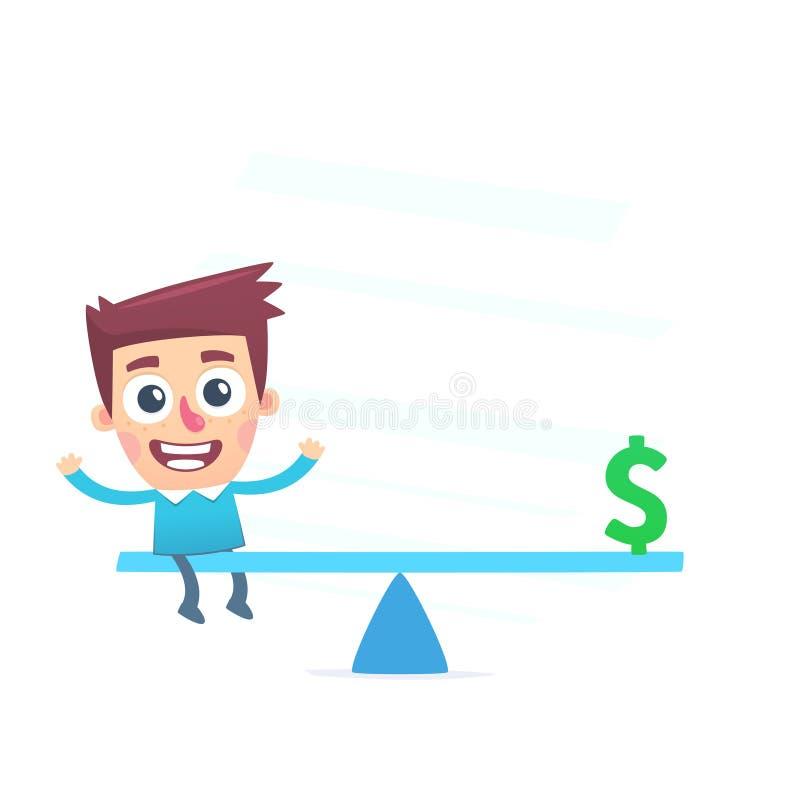 Equilibrio financiero ilustración del vector