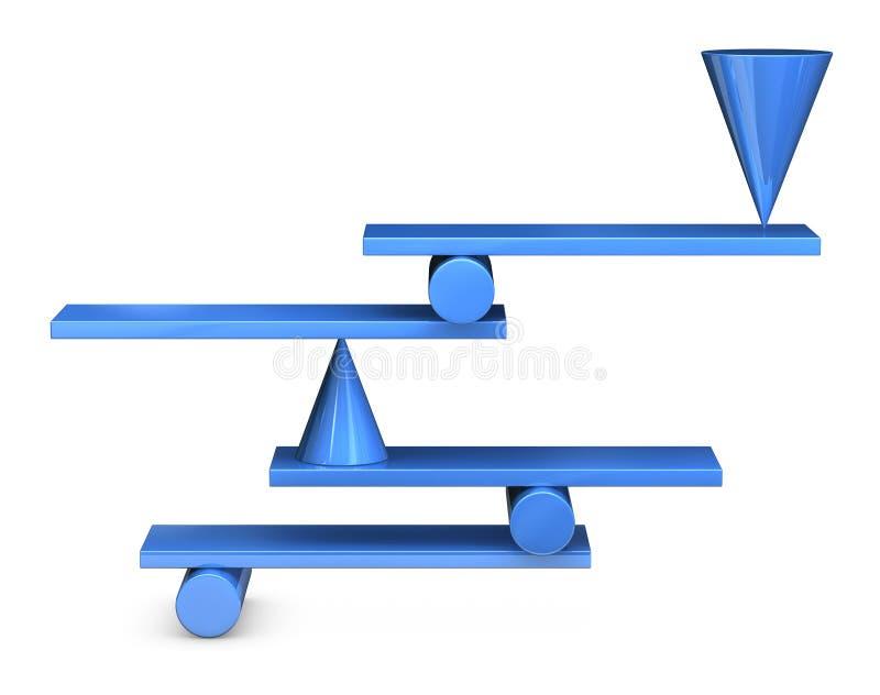 Equilibrio imposible stock de ilustración
