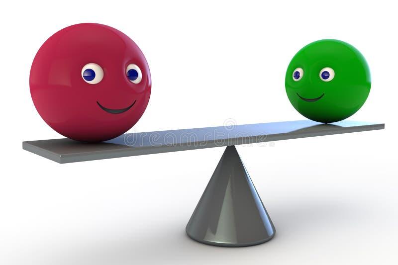 Equilibrio perfecto ilustración del vector