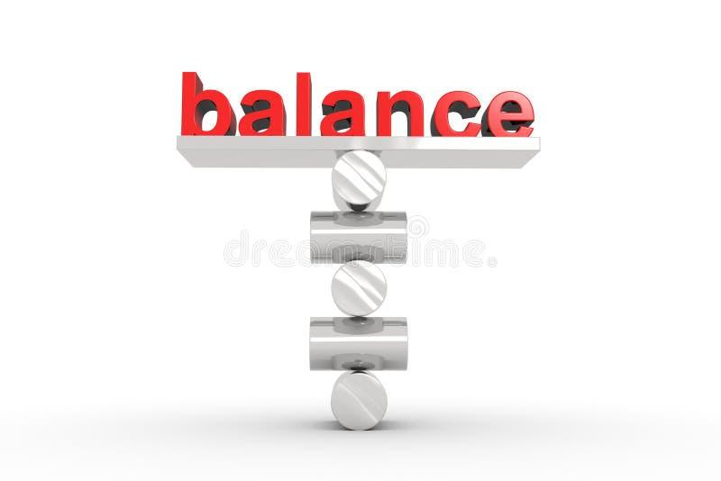 Equilibrio perfecto stock de ilustración