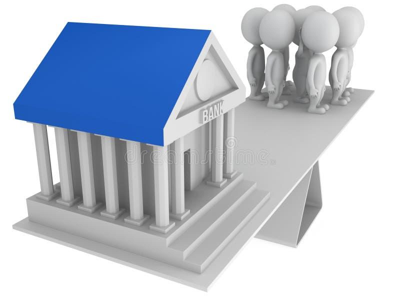 Equilibrio perfecto entre el banco y los clientes libre illustration