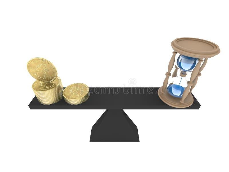 Equilibrio perfecto entre el dinero y el tiempo libre illustration