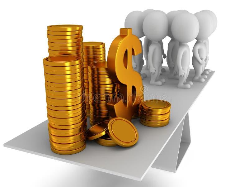 Equilibrio perfecto entre el dinero y la gente libre illustration