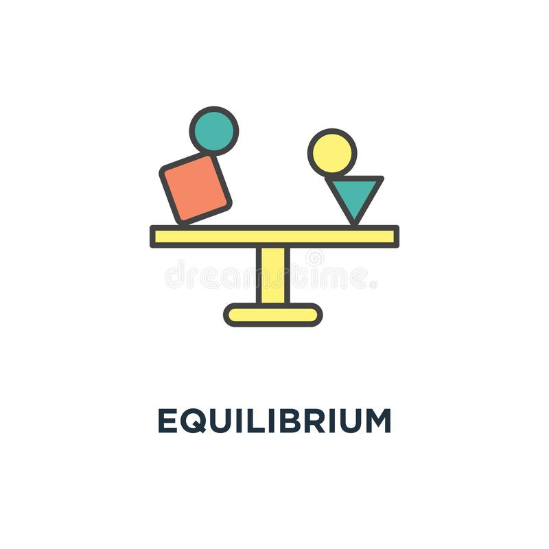 equilibrium icon. balance concept symbol design, counterpoise, creative of fragile balance of stones, to weight pros and cons, royalty free illustration