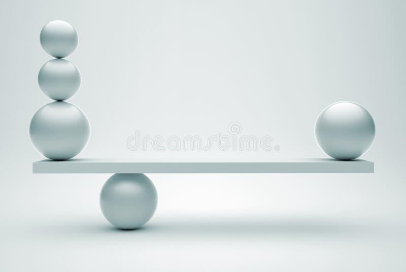 equilibriumspheres royaltyfri illustrationer
