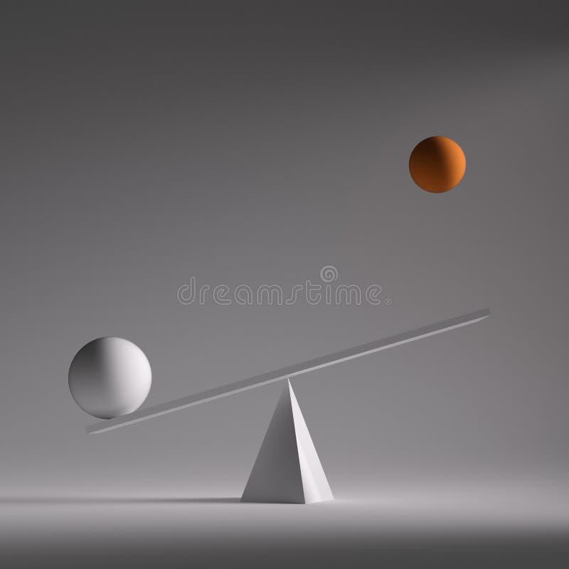 equilibriumspheres två vektor illustrationer