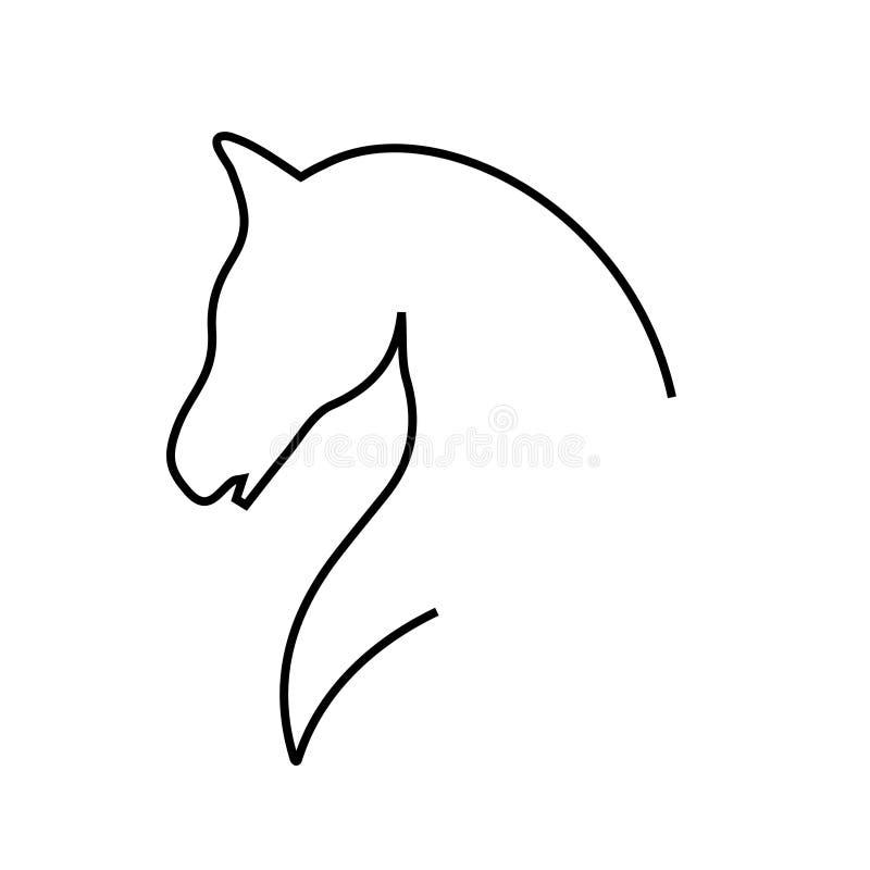 Equine логотип вектора Логотип вектора лошади иллюстрация вектора